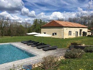 Maison grand standing avec vue exceptionnelle  piscine chauffée, jacuzzi, sauna