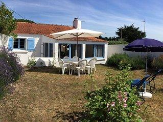 Maison de pays, jardin clos, plage à 300 m, Île de Noirmoutier, Maison 1