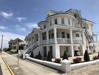 Very Large and Grand Property on the Beach Block, 2 Blocks to Town.