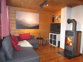 Urige Hütte in schneesicheren 1750m mit Pool&Sauna, direkt im Ski-&Wandergebiet!