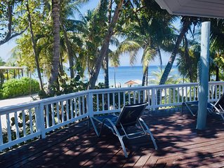 Add our beachfront home to your vacation, and well...you're in paradise.