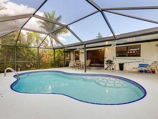 Cape Coral 2BD Tropical Garden House