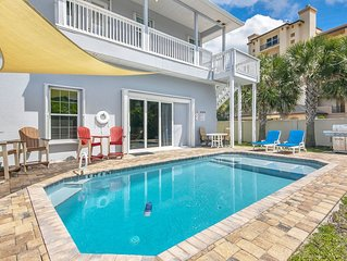 Cocoa Beach Beautiful Home Sleeps 8-12, Your Own Heated Pool