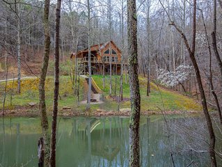 Gorgeous pet friendly property with 3 BR/3 BA cabin, multipule private acres, an