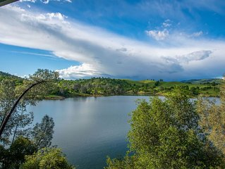 Lake Front Home! Panoramic Views of Lake Tulloch & Private Dock