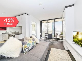 A Serene 2BR Suite Next to Southern Cross