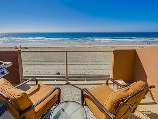 Oceanfront Family Condo w/ Panoramic Ocean Views, 3rd Floor Deck w/ BBQ!