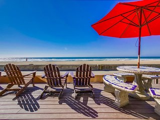 Jersey Gem! Ground Level Oceanfront Condo with Boardwalk Patio!
