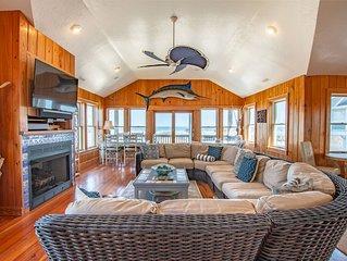 Oceanfront Nags Head home, Crawford Cottage OBX sleeps 30, dune decks, 2 pools