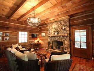 Stunning Rebuild 1820`s Cabin in Pisgah Forest