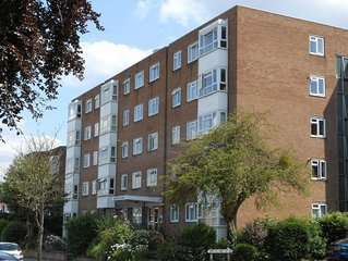 Stylish Modern 2 Bedroom flat, own parking space  ,300 metres Surbiton Station