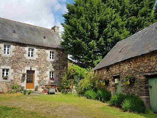 Book now!Perfect for walking cycling.Sleeps 4, near Huelgoat,Brittany.