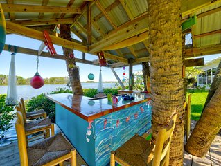 Riverfront Retreat with Tiki Bar on Cocoa Beach's Thousand Islands