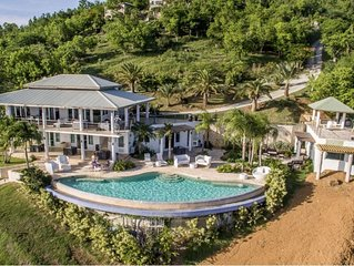 Seahorse Villa: luxury estate with 75' infinity pool overlooking the Caribbean