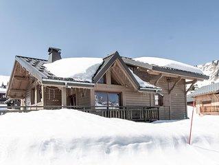 Chalet de luxe au milieu des pistes de ski