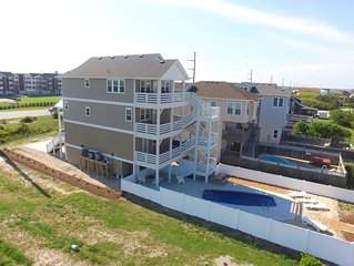Private Pool*Elevator*Ocean and Sound Views*2 Minute walk to beach!