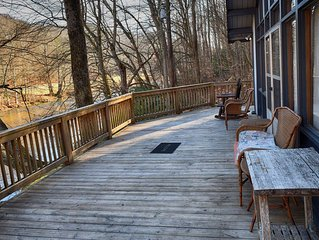 Enjoy the River from your front porch rocker