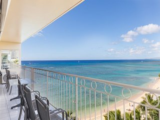Beach Bliss w/Awesome View, Hawaii Decor, Free WiFi, Full Kitchen–Waikiki Shore