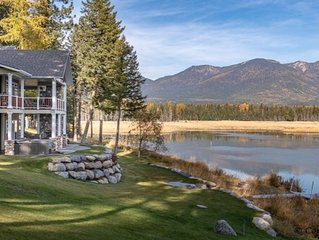 Classic Echo Lakefront Home with Majestic Swan Mountain Views.