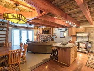 Ski-in/walk-out condo that sleeps 8, outdoor hot tub, free wifi, & parking.