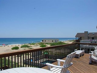 Lookout: South Nags Head, oceanfront, private pool, hot tub and media room.