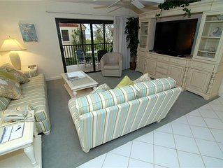 Partial Beach View 2 bedroom, 2 bath at Sanibel Moorings Resort #412