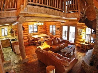 Exceptional, On-Mountain Log Home