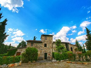 Quaint Farmhouse in Radda In Chianti with Swimming Pool