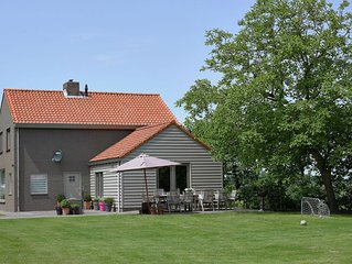 Tastefully decorated holiday home with rural location, 5km from the sea