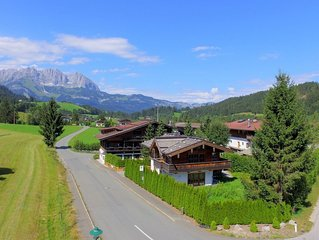 Luxurious holiday home in Reith bei Kitzbuhel with view of the Wilden Kaiser