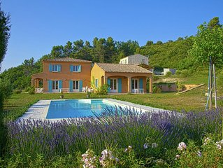 Spacious comfortable villa with private pool and sweeping views