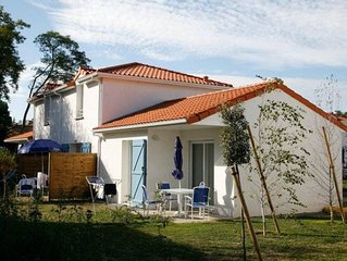 Well maintained apartments with their own terraces on a holiday park with an out