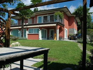 Nice apartment in a villa with three apartments, with private porch and garden