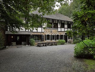 Stunning Ardennes castle villa with fireplace situated in a wooded area
