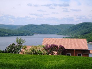 Large holiday home consisting of two units with a nice view of the Edersee