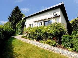 Comfortable and cosy little bungalow with garden, terrace and beautiful view.