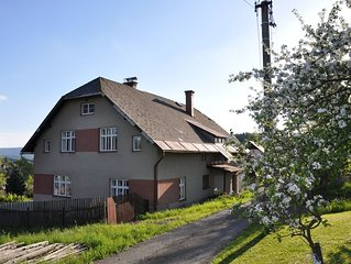 Detached holiday home, large garden with terrace and view of the Giant Mountains