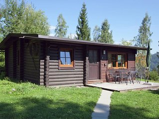 A detached chalet in the woods with plenty of privacy