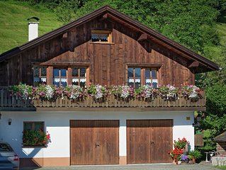 Very cosy, atmospheric chalet with lovely views.