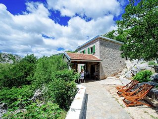 Authentic stone house on the mountain Velebit with unique view on the islands