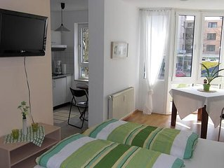 Apartment 1, green, 24 m², 1-2 people