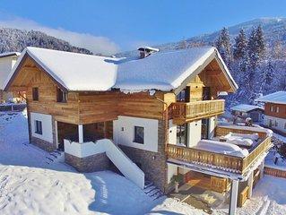 Luxurious, detached lodge with jacuzzi near the Wagrain ski area