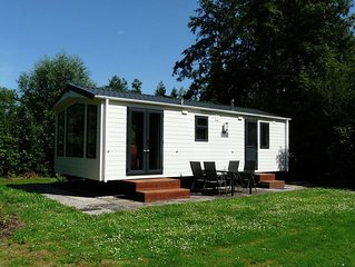 Lovely chalets with plenty of privacy, in a water and nature rich holiday park