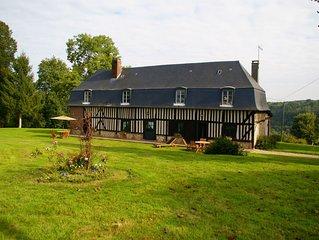 Normandic cottages, Deauville at 30km, Abbeys, coast