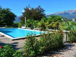 Sole 3 Garten-Ferienwohnung mit Pool (EG)