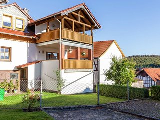 Apartment in the Kellerwald National Park, with balcony and easy access to a ho