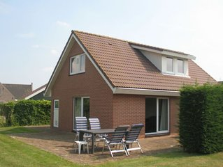 Detached accommodations at a holiday park with a pool, in a tranquil and very n