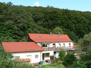 Holiday home with terrace, beautiful natural garden and playing opportunities f