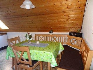 Ferienwohnung mit ca. 60qm, 2 Schlafzimmer, fur maximal 5 Personen