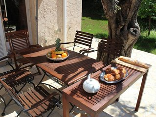 Charming renovated  house in Antibes / Nice terrace & Garden /Spa/Pool/Parking